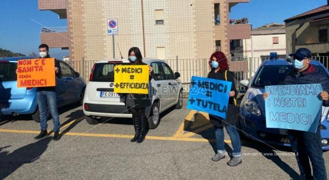 La protesta a Corigliano