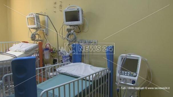 Il reparto di terapia intensiva dell'Annunziata di Cosenza