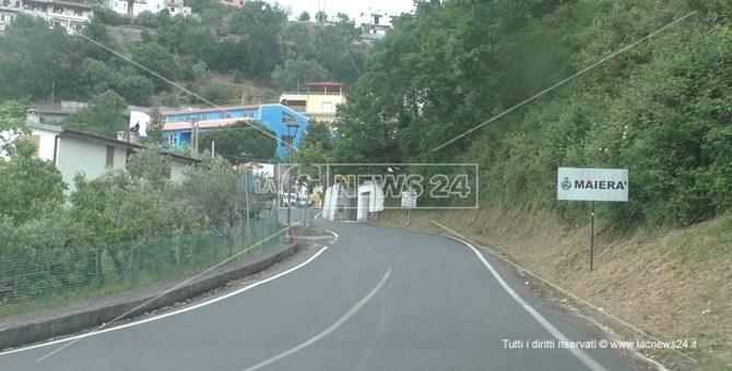 L'ingresso della cittadina di Maierà