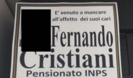 Il manifesto funebre, foto ansa