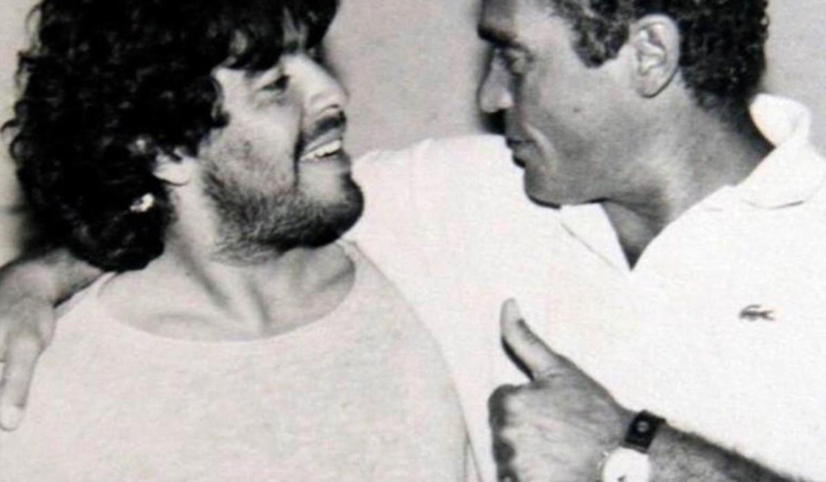 Gianni Di Marzio con Diego Armando Maradona (Foto Efe)