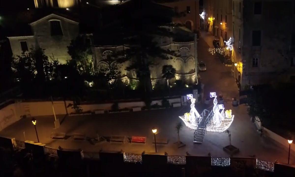 Uno scorcio del Villaggio di Natale