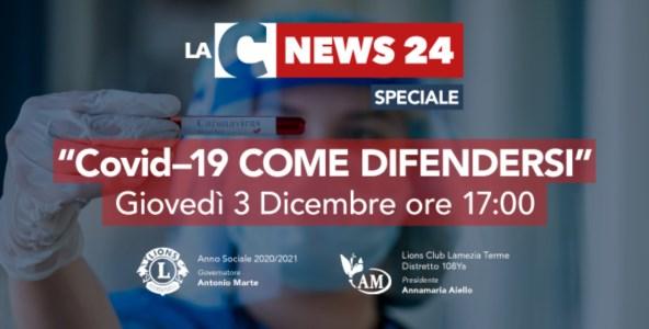 """""""Covid-19: come difendersi"""": il 3 dicembre in onda lo speciale di LaC News24"""