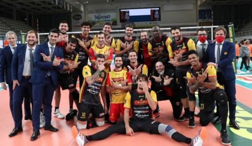 Superlega, la Tonno Callipo espugna Trento e consolida il terzo posto