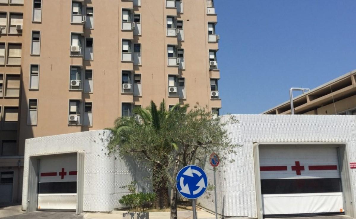 L'entrata del pronto soccorso dell'ospedale di Rossano