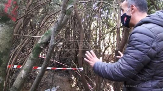 Il luogo tra i boschi di Ariola nel quale è stato recuperato il cadavere