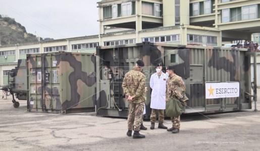 Coronavirus, dimesso il primo paziente dall'ospedale da campo di Cosenza