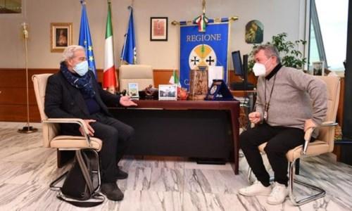 Il commissario ad acta, Guido Longo, e il presidente ff della Regione Calabria, Nino Spirlì