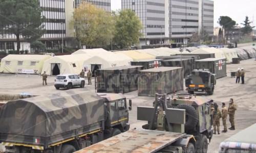 Cosenza, il primo paziente varca la soglia dell'ospedale militare: attivi i 40 posti letto