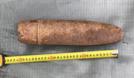 La granata fatta brillare dagli artificieri
