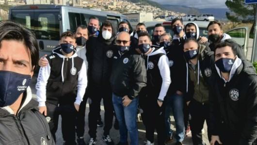 il team del Cataforio durante il viaggio per Napoli