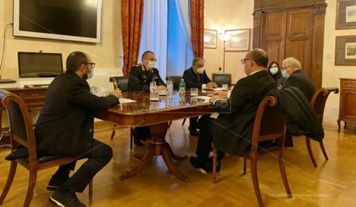 La delegazione del comune di Casali del manco ricevuta al Ministero della Difesa