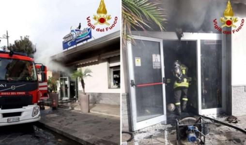 Incendio a Vibo Marina