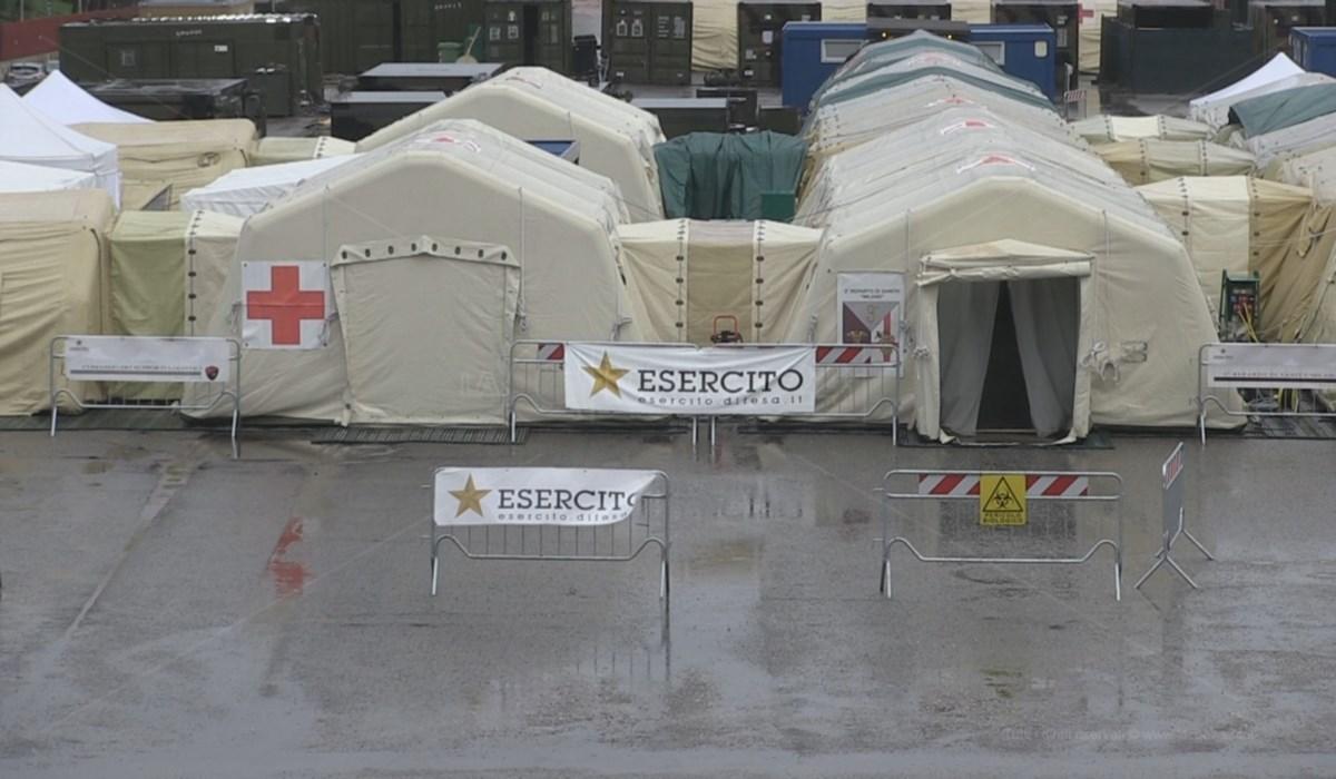 L'ospedale da campo a Cosenza