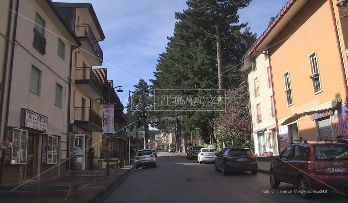 La strada principale di Camigliatello