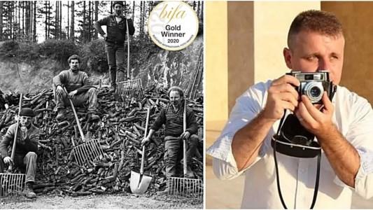 La foto I carbonari e il videoreporter Saverio Caracciolo