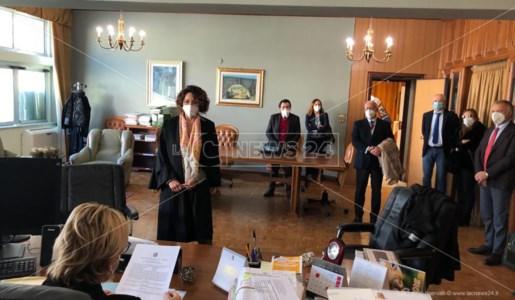 Il giuramento del nuovo presidente della sezione Penale, Carmen Ciarcia