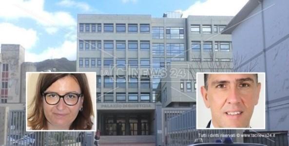 L'assessore alla Cultura di Diamnte Francesca Amoroso e l'ex sindaco di Scalea Mario Russo