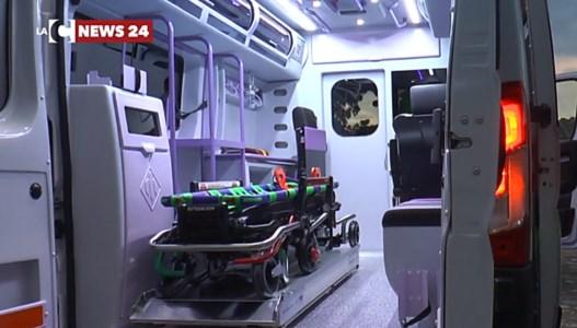 Cosenza, ambulanza parte per un soccorso a Rossano da trasferire a Belvedere