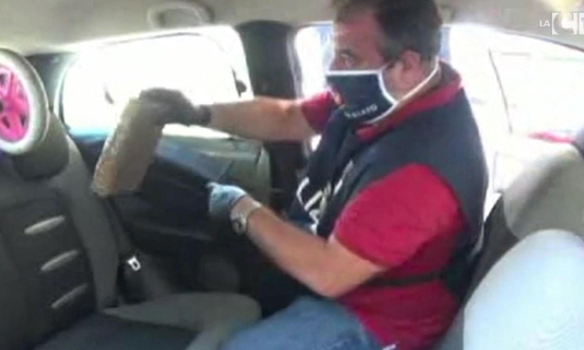 Il rinvenimento della droga in auto
