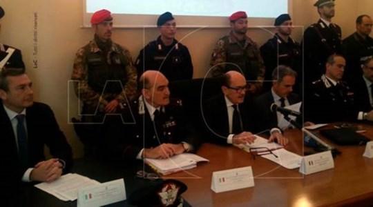 La conferenza stampa dell'operazione Provvidenza