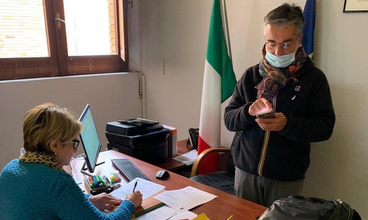 Il sindaco Maria Limardo e il segretario comunale Domenico Scuglia