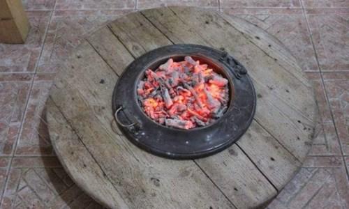 Il braciere che una volta venina usato per riscaldare le case