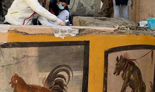 Nuova scoperta a Pompei, foto ansa