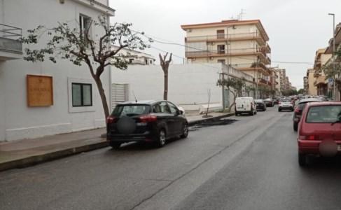 Via Nazionale, dove era parcheggiata l'auto