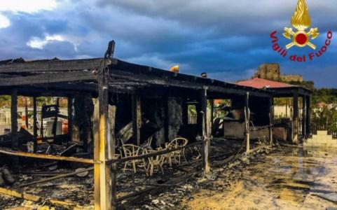L'incendio a Scalea