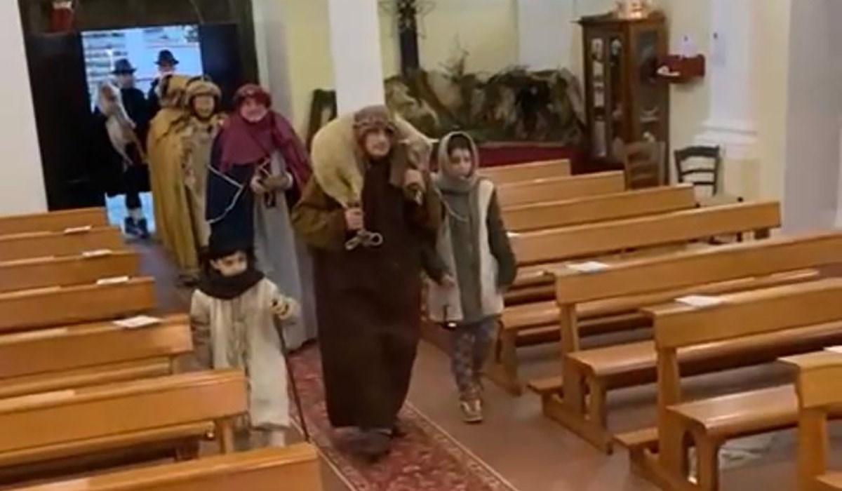 L'arrivo dei Magi nella chiesa delle Cappelle a Laino Borgo