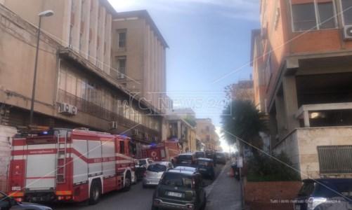 I vigili del fuoco intervenuti sul posto