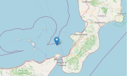 Terremoto di magnitudo 3.2 nel mar Tirreno tra Calabria e Isole Eolie