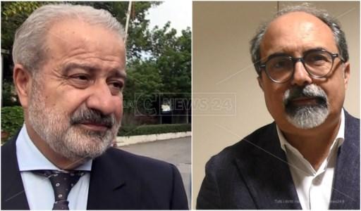 Il commissario ad acta, Guido Longo, e Antonio Belcastro