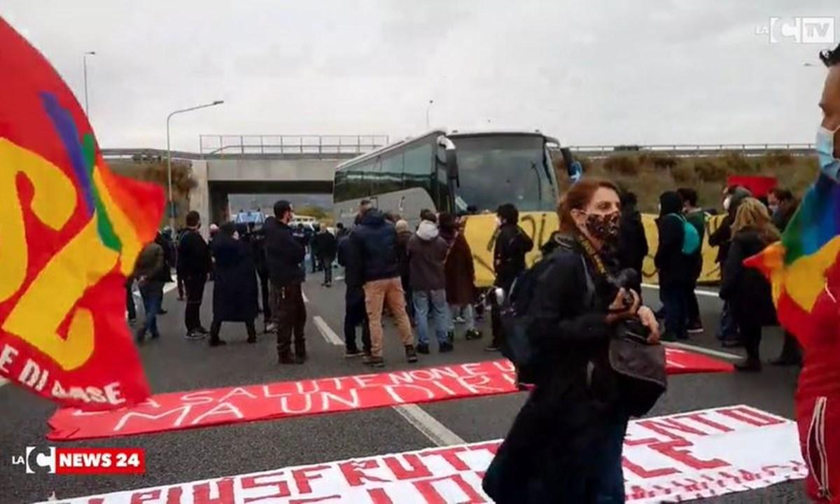 La manifestazione a Catanzaro