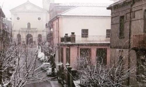 La neve a Sant'Agata di Esaro