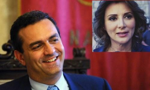 Luigi de Magistris e Anna Falcone