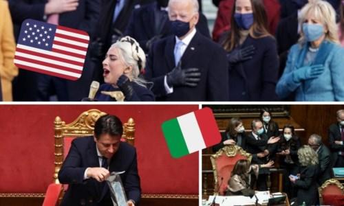 Biden versus Conte: la festa americana e il derby parlamentare all'italiana