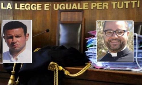 Da sinistra don Graziano Maccarone e Nicola De Luca