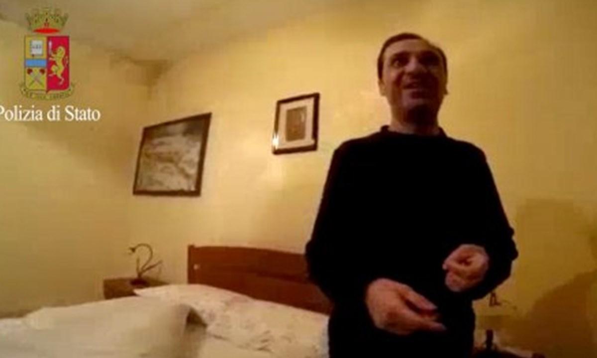 Marcello Pesce nel covo dove è stato arrestato