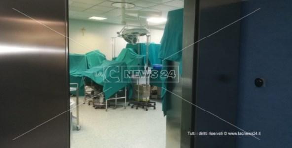 La sala operatoria dell'ospedale di Cetraro
