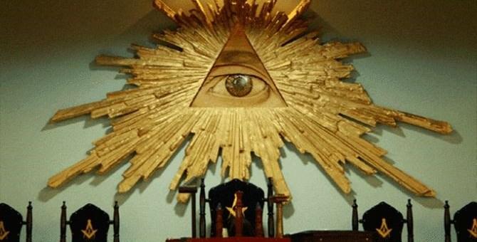 L'occhio simbolo della massoneria. Fonte foto: dal web