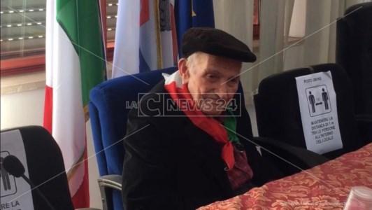 """Locride, addio al partigiano Malerba: l'ex membro della """"Garibaldi"""" aveva 99 anni"""