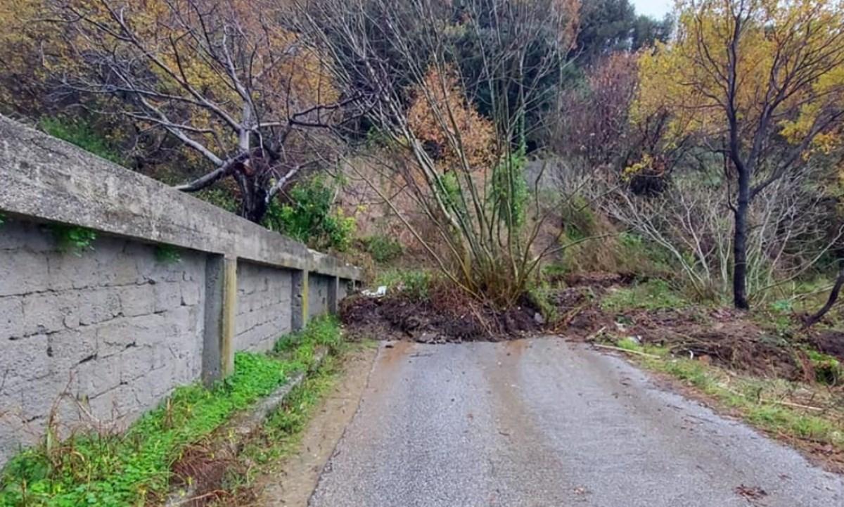 Maltempo a San Lucido, foto da fb del Comune