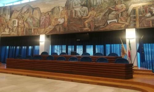 La sala consiliare della Provincia di Catanzaro
