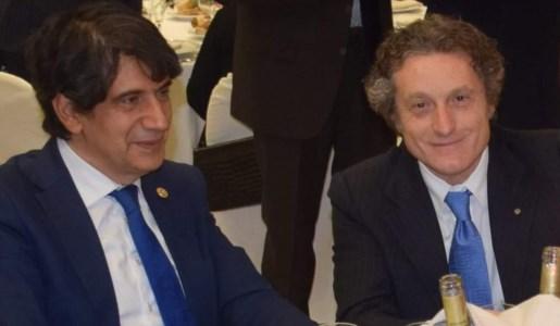 Carlo Tansi con l'avvocato Nicon Mondelli in una foto tratta da Facebook