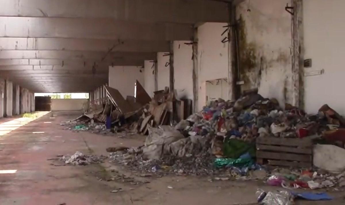 I rifiuti rinvenuti nella fabbrica dismessa