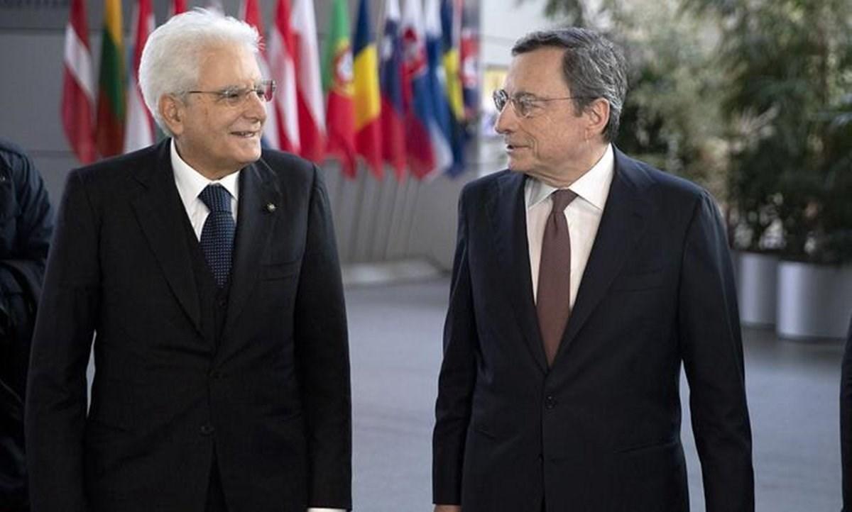 Mattarella e Draghi (foto ansa)