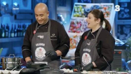 Una coppia cosentina ai fornelli del programma Cuochi d'Italia