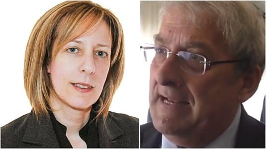 I parlamentari Ernesto Magorno e Magorno e Silvia Vono